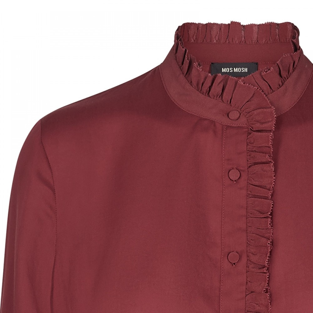 Mos Mosh skjorte - Frida Shirt, Syrah Red