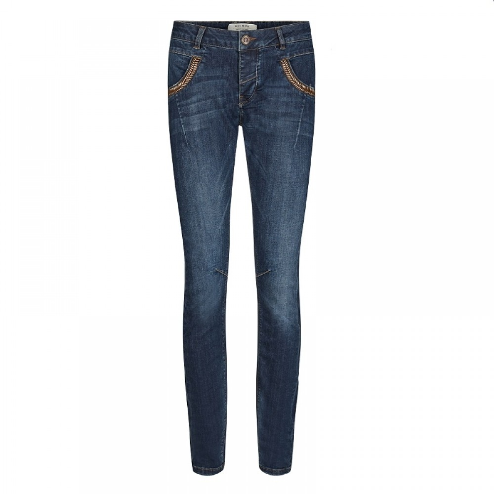 Mos Mosh jeans - Naomi Feather, Blue Denim