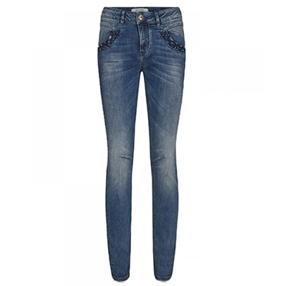 Mos Mosh jeans - Naomi Embroidery, Blue Denim