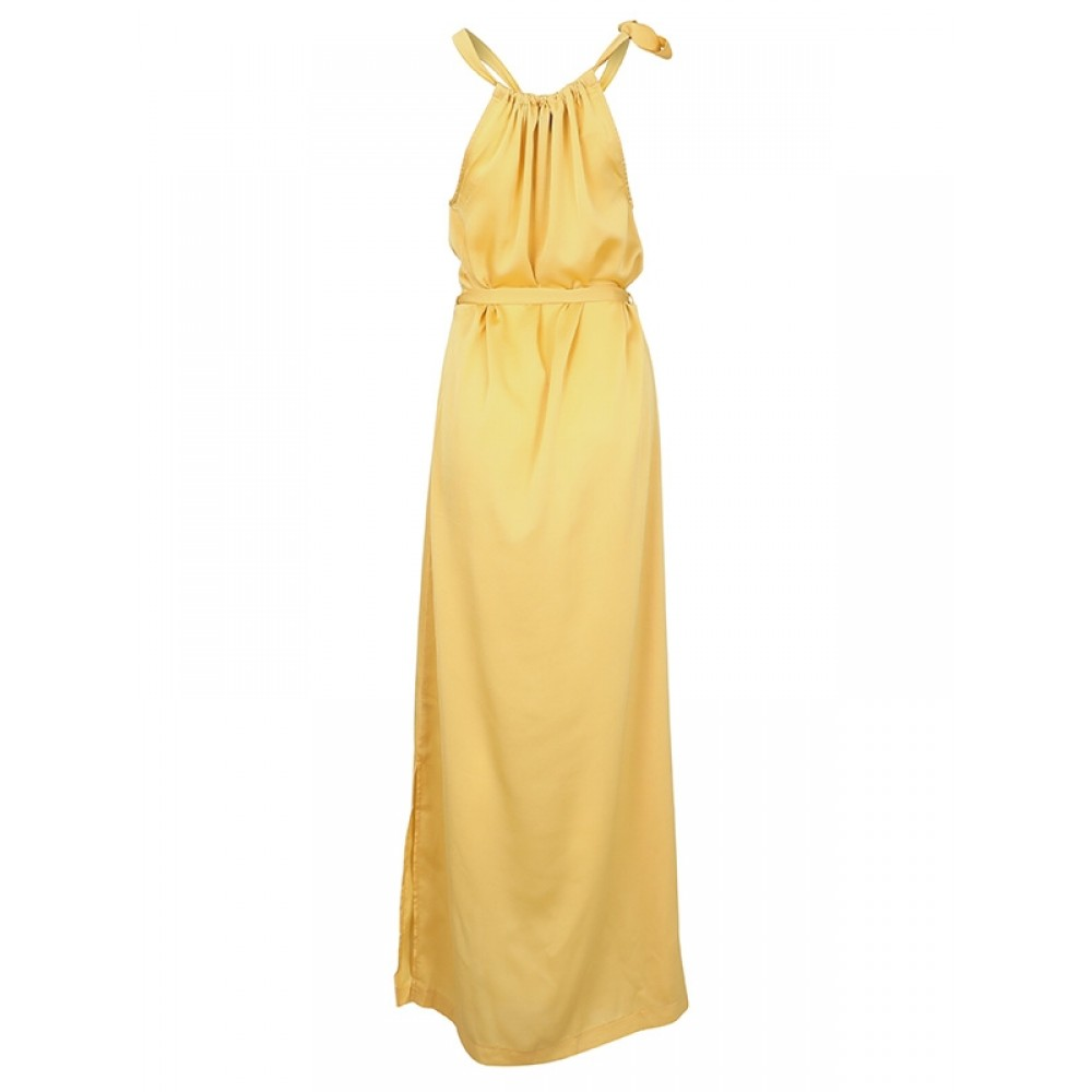 Neo Noir kjole - Cora Solid Dress, Yellow