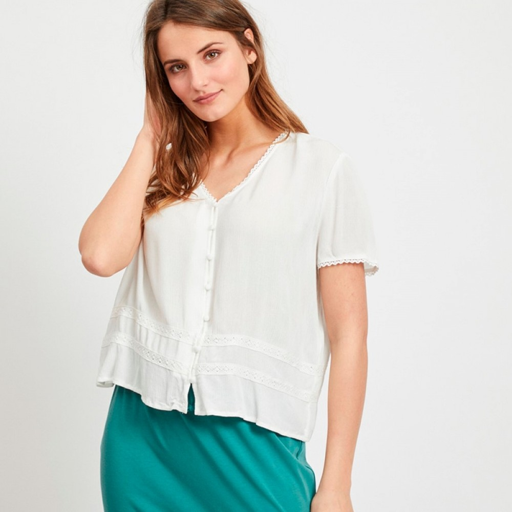 Object bluse - Janette SS Top, Gardenia