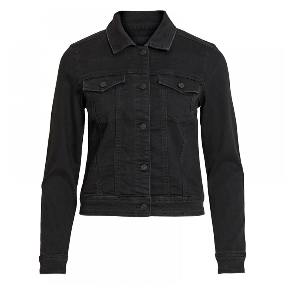 Object jakke - Win New Denim Jacket, Black Denim
