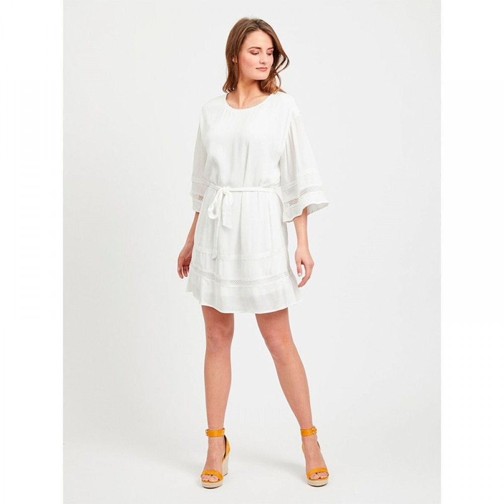 Object kjole - Janette 3/4 Short Dress, Gardenia
