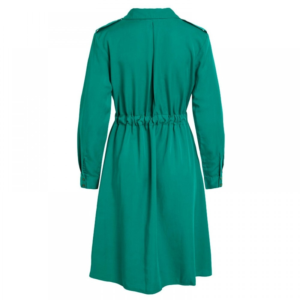Object kjole - Vera LS Dress, Ultramarine Green
