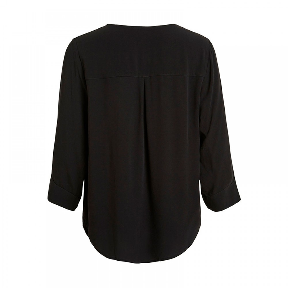 Object bluse - Bay 3/4 Top, Black