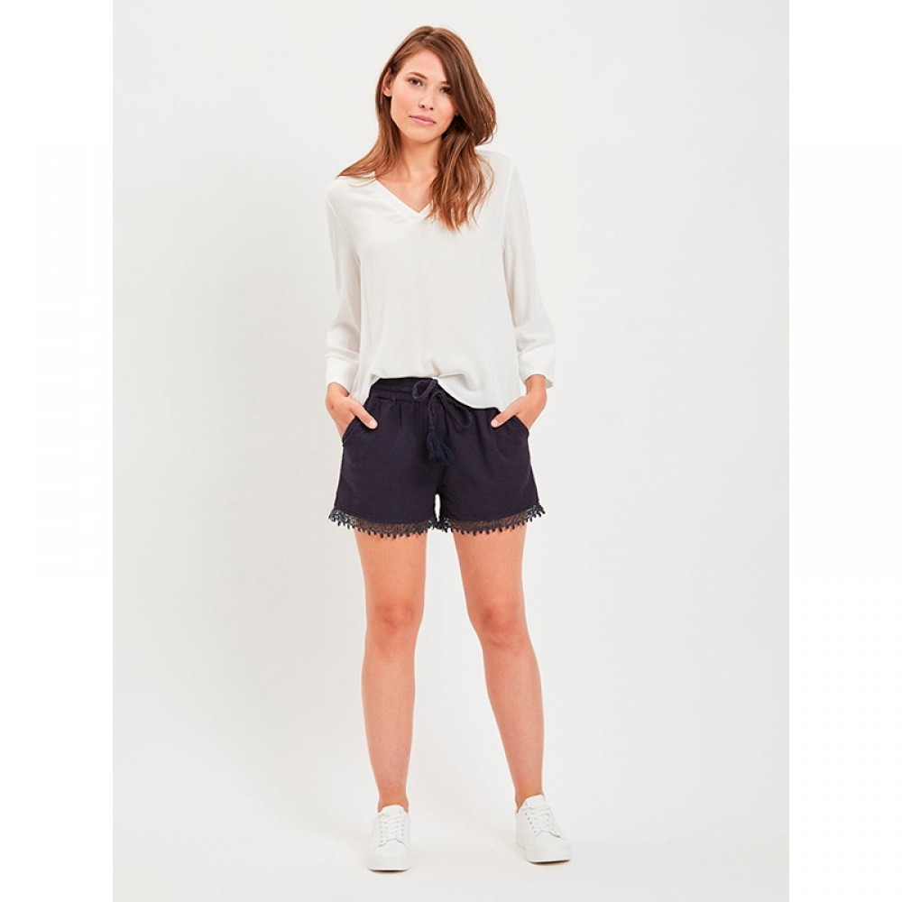 Object bluse - Bay 3/4 Top, White