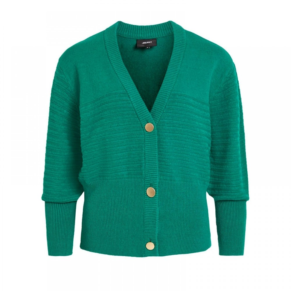 Object cardigan - Yara LS Knit Cardigan, Ultramarine Green