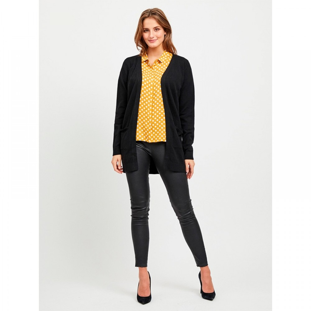 Object cardigan - Thess LS Cardigan, Black