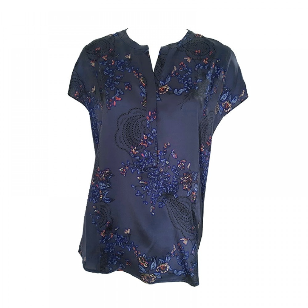 PBO bluse - Dust Top, Sign Blue