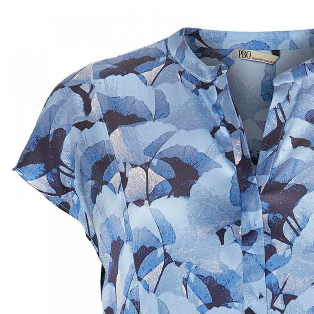 PBO bluse - Dust Silk Top, Blue