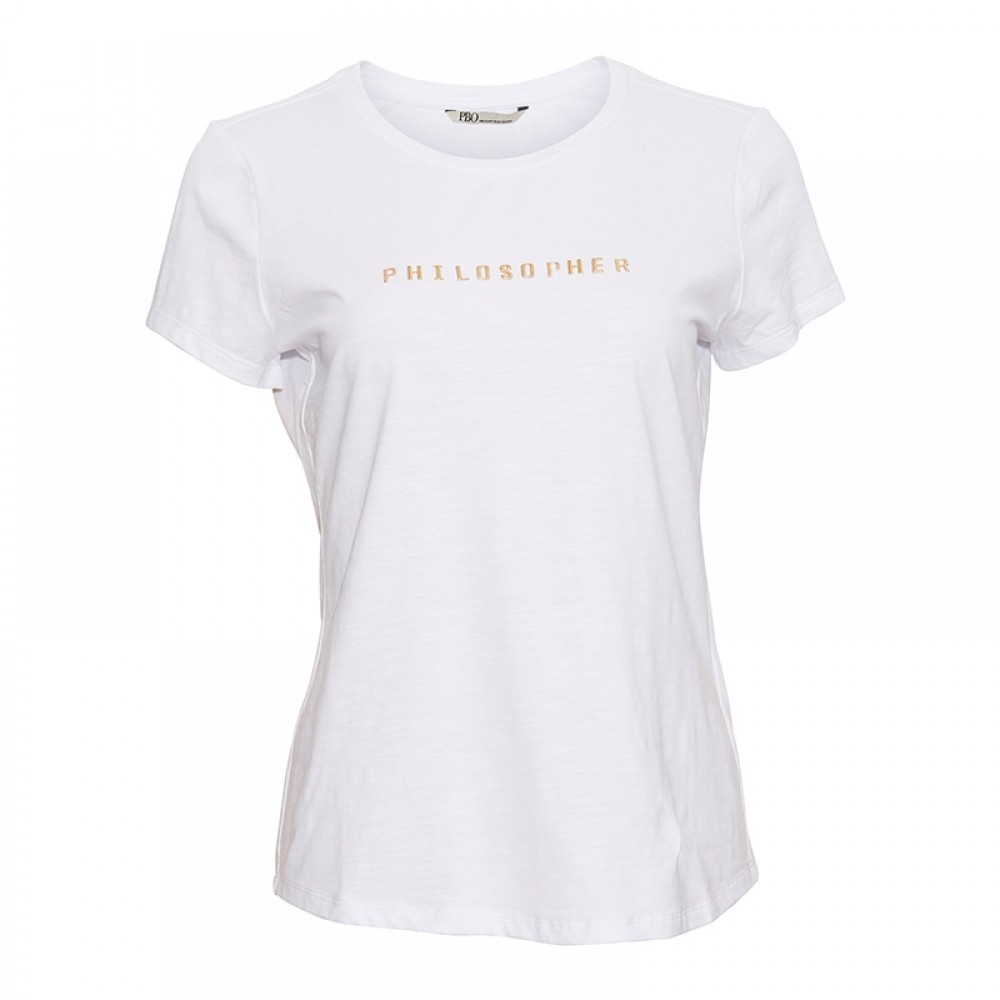 PBO bluse - Philosopher T-shirt, White