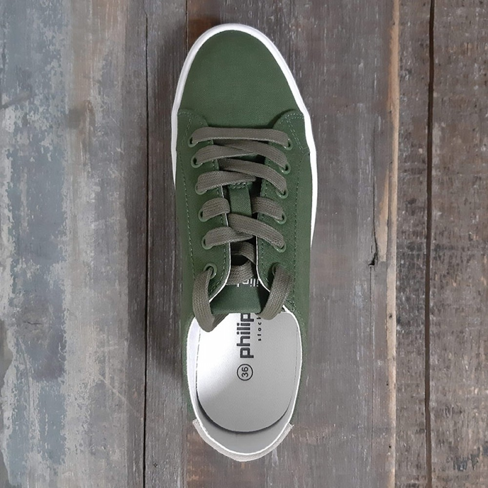 Philip Hog sneakers - Sandy, Canvas, Pine GreenSand
