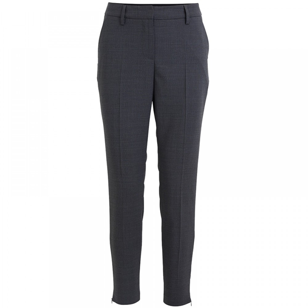 Rabens Saloner bukser - Janett Check Suiting Relax Fit Pant, Grey