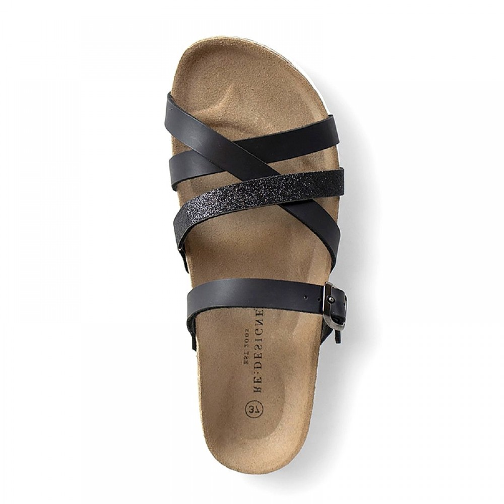 RE:DESIGNED sandal - Eshita Sandals, Black