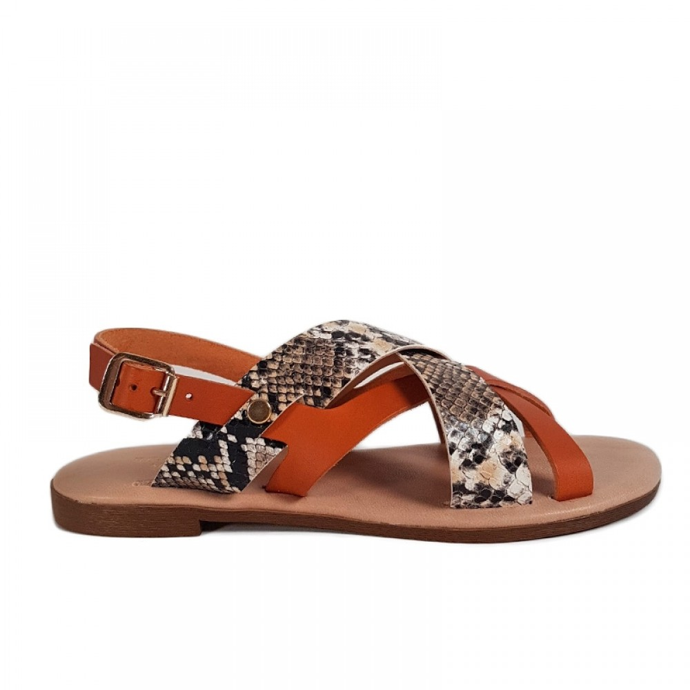 RE:DESIGNED sandal - Deena Sandals, Cognac