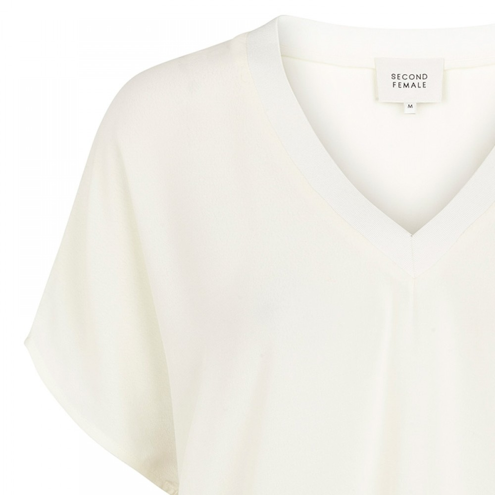 Second Female bluse - Joyce Top, Off White