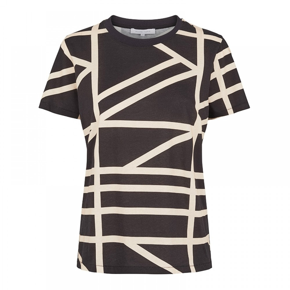 Second Female bluse - Grid Tee, Black