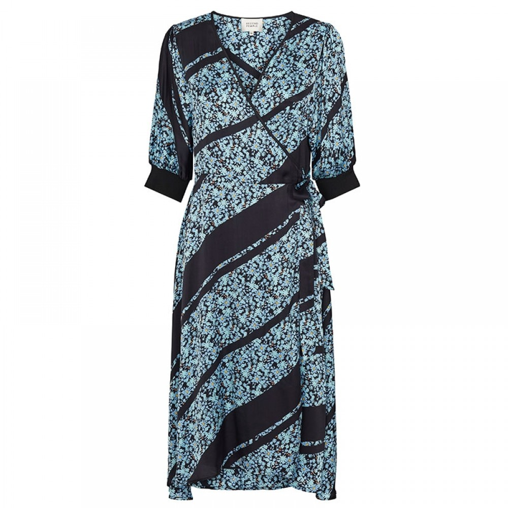 Second Female kjole - Break Wrap Dress, Little Boy Blue
