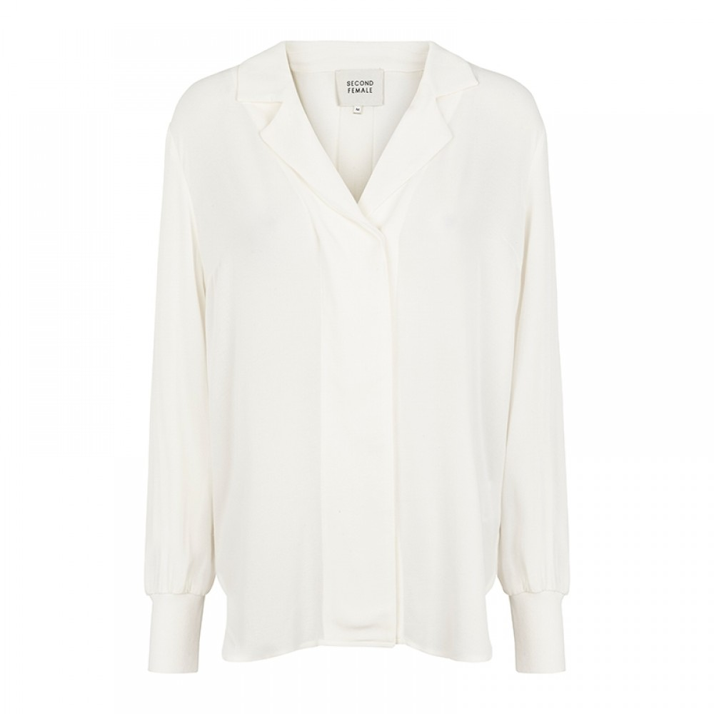 Second Female skjortebluse - Aman Blouse, White