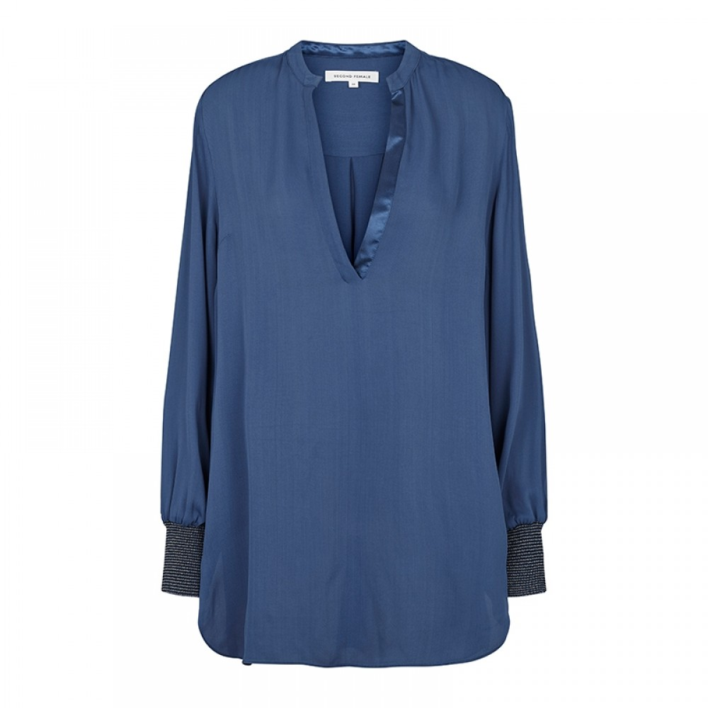 Second Female bluse - Filine Blouse, Ensign blue