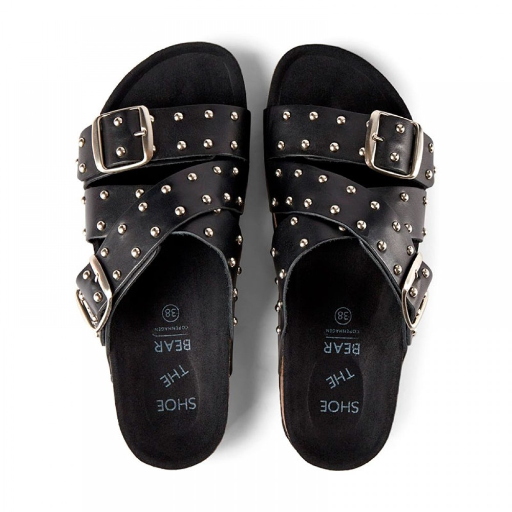 Shoe The Bear sandal - CARA Cross Studs, Black