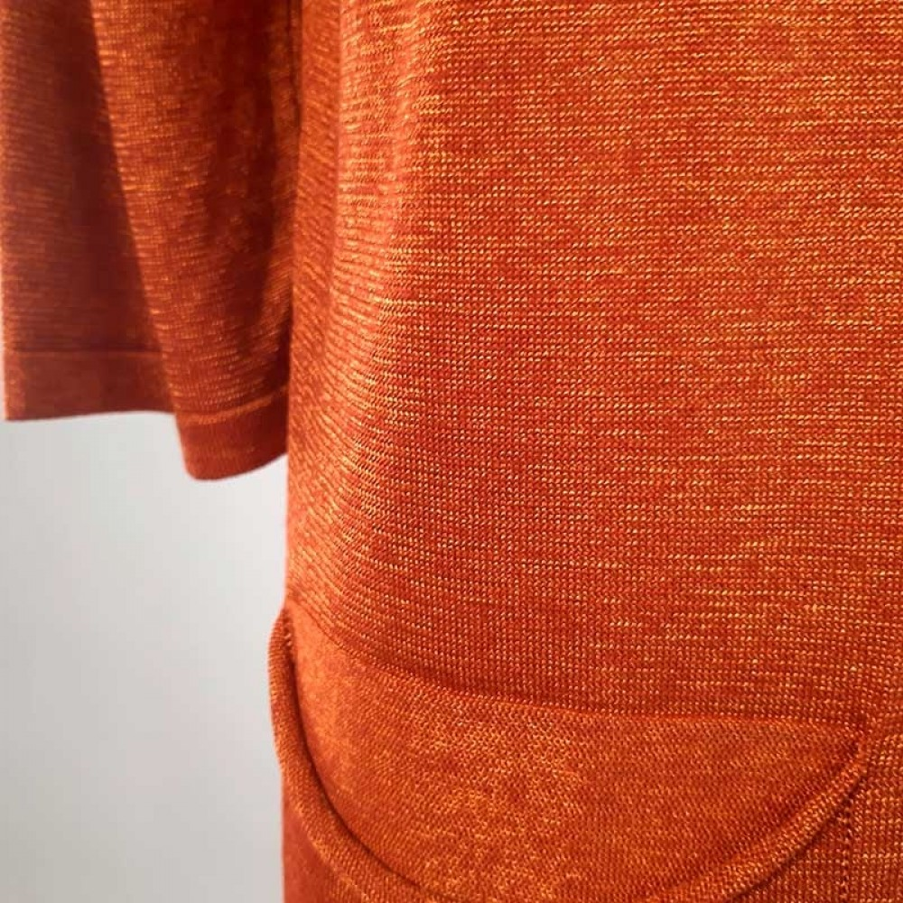 sibin/Linnebjerg cardigan - FLORIDA, Melange orange 3657