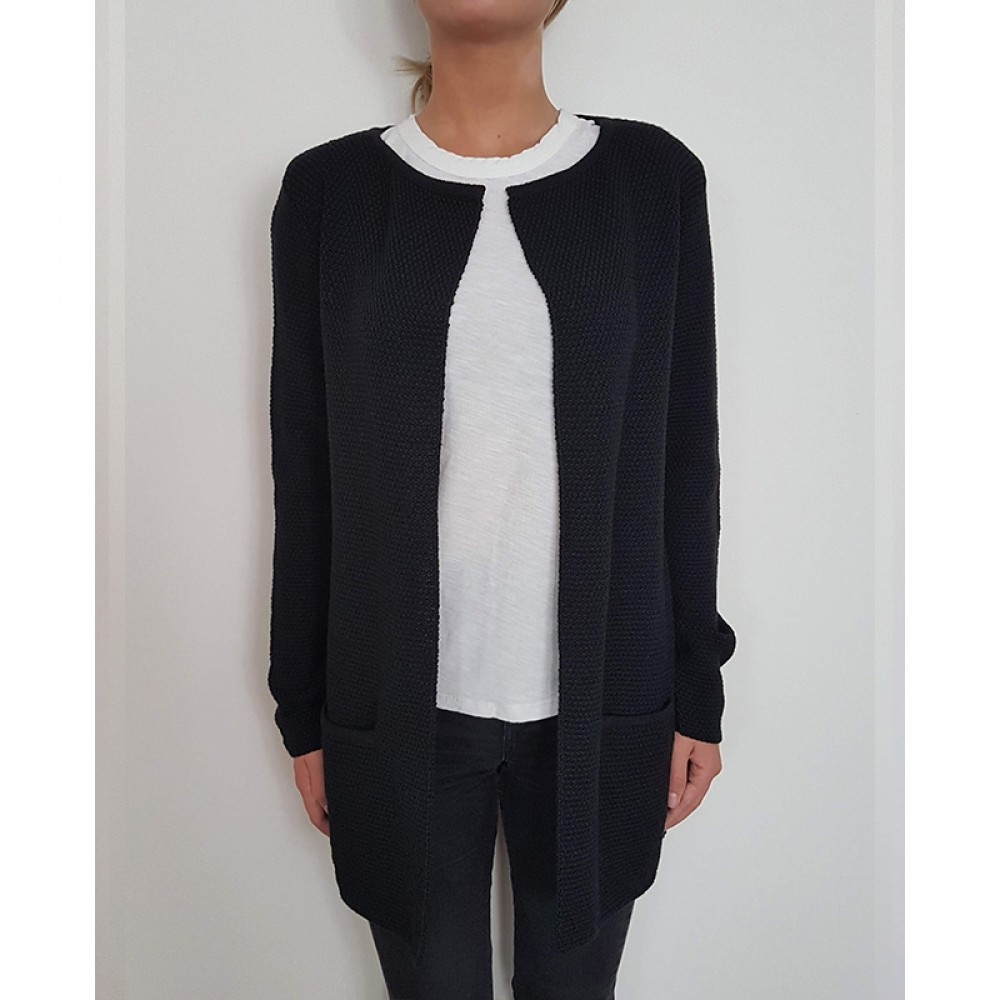 Sibin/Linnebjerg cardigan - MARY SHORT, Black 1999