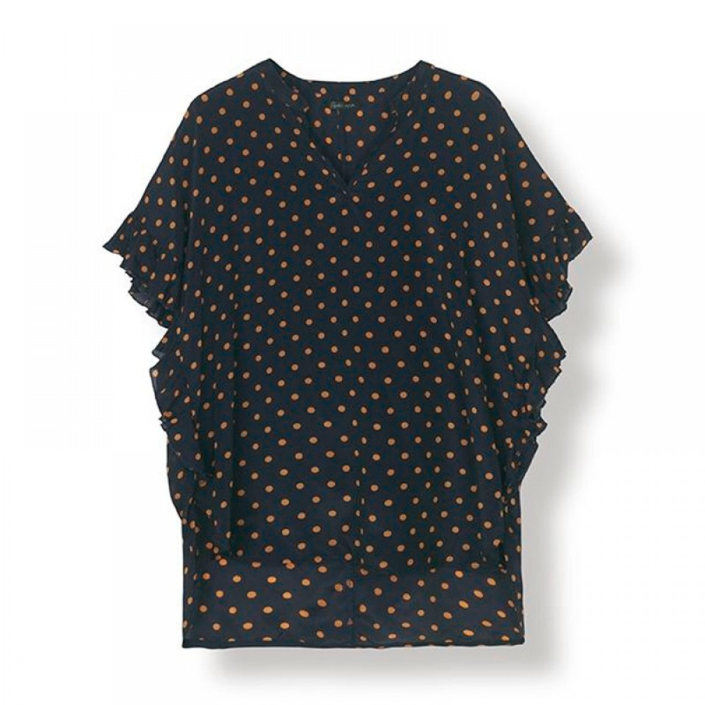 Stella Nova bluse - Viona Blouse, Navy / Orange