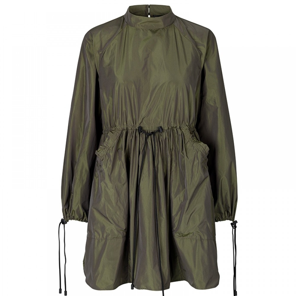 Stine Goya kjole - Nikita Taffeta Dress. Seaweed Green