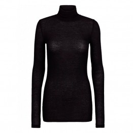 Bruuns Bazaar bluse - Angela Roll Neck, Black