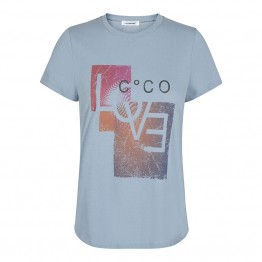Co'couture bluse - Lexa Love Tee, Pale Blue