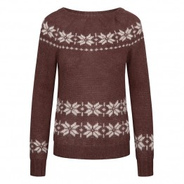 Gai + Lisva strikbluse - Lillie Knit Pullover, Coffee Bean