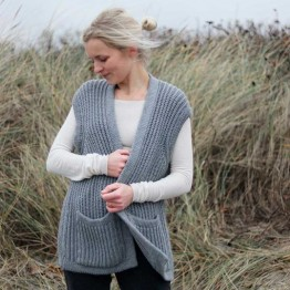 Gai + Lisva strikvest - November Vest, Grey Melange