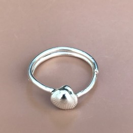 Ibu Jewels ring - Ring Fan Shell, Silver
