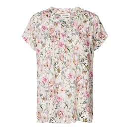 Lollys Laundry bluse - Heather Top, Rose Flower Print
