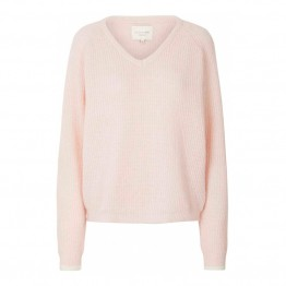 Lollys Laundry strikbluse - Aliza Jumper, Baby Pink