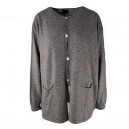 Made by Andersen cardigan - Comfort Basic Cardigan, Grey Melange