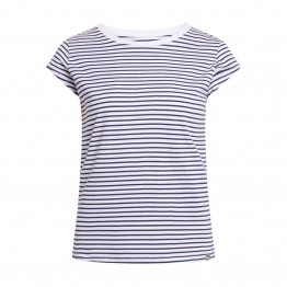 Mads Nørgaard bluse - Organic Favorite Stripe Teasy, White Navy