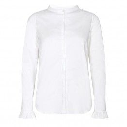Mos Mosh skjorte - Mattie Sustainable Shirt, White