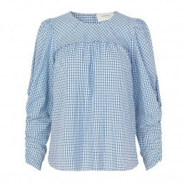 Munthe bluse - Eleanor Blouse, Blue
