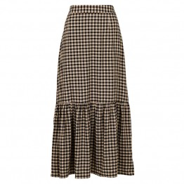 Neo Noir nederdel - Fabi Check Skirt, Black