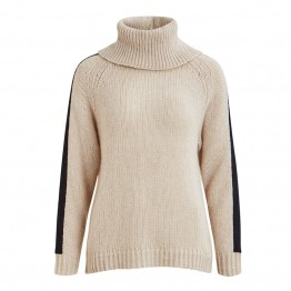 Object strikbluse - Blakely LS Knit Pullover 104, Gardenia
