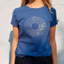 PBO bluse - Circle T-shirt, Denim Blue
