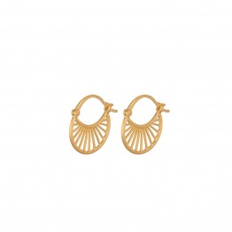 Pernille Corydon øreringe - Small Daylight Earrings 16 mm, Gold