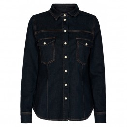 PIESZAK skjorte - Stacy Supreme Shirt, Dark Blue
