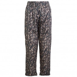 Rabens Saloner bukser - Lily Wild Animal Cotton Pant, Green Grey