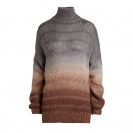 Rabens Saloner strikbluse - Amina Stripe Dye Oversize Sweater, Brown Grey