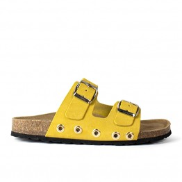 RE:DESIGNED sandal - Duffy Sandals, Suede Yellow