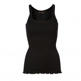 Rosemunde - Silk top regular w/elastic band, Black