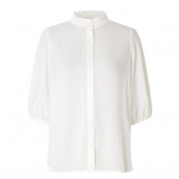 Second Female bluse - Tara SS Shirt, Bright White